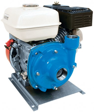 """5.5 HP Honda Gas Cast Iron Centrifugal Pump with 1-1/2"""" NPT Inlet x 1-1/4"""" NPT Outlet"""