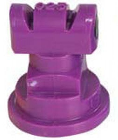 Turbo TwinJet Lilac Acetal Polymer Twin Flat Spray Tip Nozzle