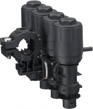 """1/2"""" Pipe 4 Outlet Stackable Nozzle Body Assembly for Wet Applications"""