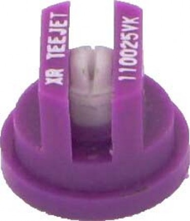 XR TeeJet Lilac Acetal-Ceramic Extended Range Flat Spray Tip Nozzle