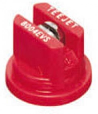 TeeJet Red Acetal-Stainless Steel VisiFlo Flat Spray Tip Nozzle