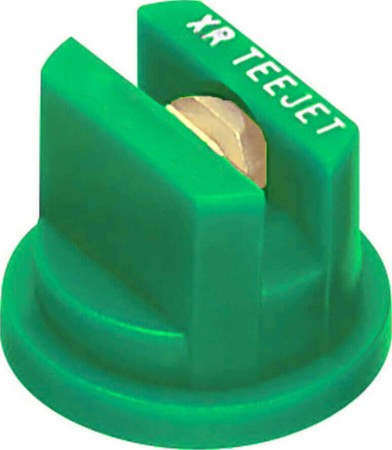 XR TeeJet Racing Green Acetal-Brass Extended Range Flat Spray Tip Nozzle
