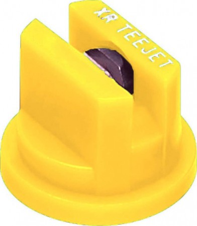 XR TeeJet Yellow Acetal-Stainless Steel Extended Range Flat Spray Tip Nozzle