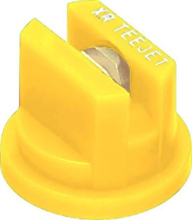 XR TeeJet Yellow Acetal-Brass Extended Range Flat Spray Tip Nozzle