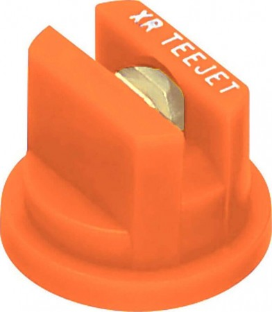 XR TeeJet Orange Acetal-Brass Extended Range Flat Spray Tip Nozzle
