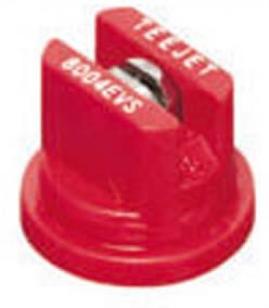 TeeJet Red Acetal-Stainless Steel Even Flat Spray Tip Nozzle