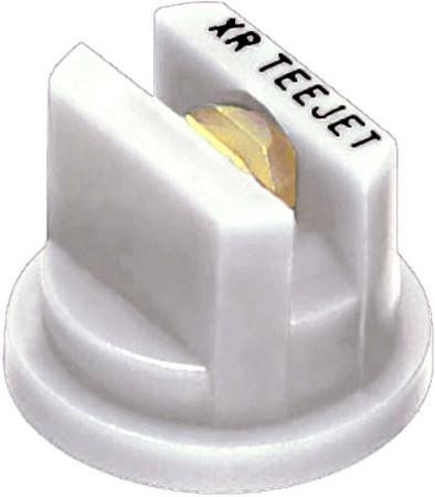 XR TeeJet White Acetal-Brass Extended Range Flat Spray Tip Nozzle