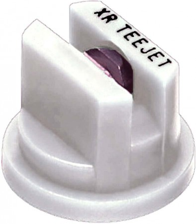 XR TeeJet White Acetal-Stainless Steel Extended Range Flat Spray Tip Nozzle