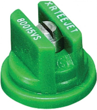 XR TeeJet Racing Green Acetal-Stainless Steel Extended Range Flat Spray Tip Nozzle