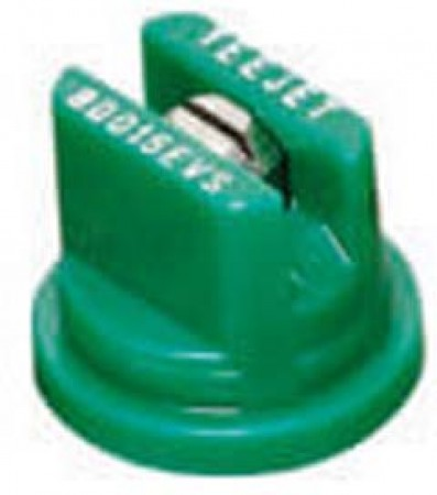 TeeJet Racing Green Acetal-Stainless Steel Even Flat Spray Tip Nozzle