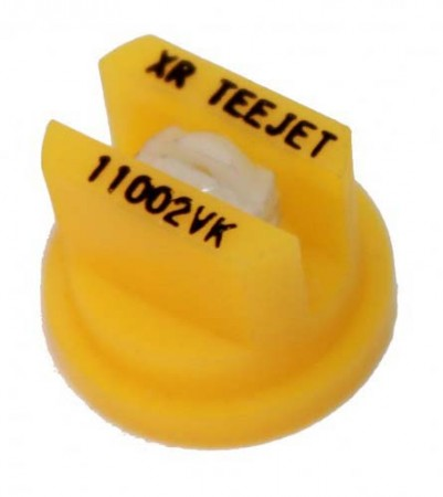 XR TeeJet Yellow Acetal-Ceramic Extended Range Flat Spray Tip Nozzle