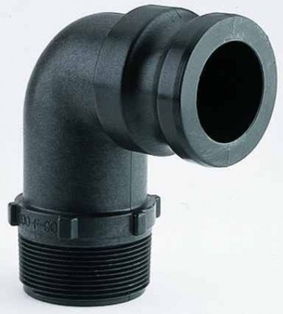 """Cam Action 90° Coupler Fitting - 1 1/2"""" Male Adapter x 1 1/2"""" MPT"""