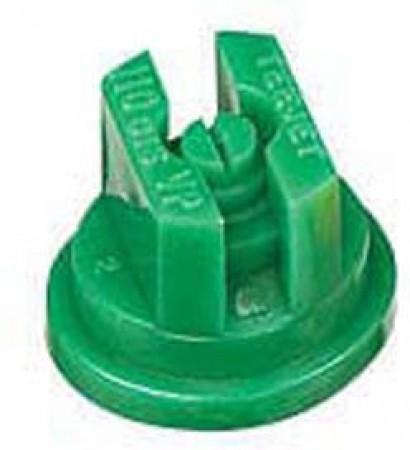 TeeJet Racing Green Acetal Polymer VisiFlo Flat Spray Tip Nozzle