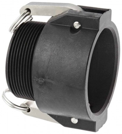 """Cam Action Coupler Fitting - 3"""" Female Coupler x 3"""" MPT"""