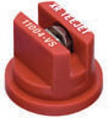 XRC TeeJet Red Acetal-Stainless Steel Extended Range Flat Spray Tip Nozzle