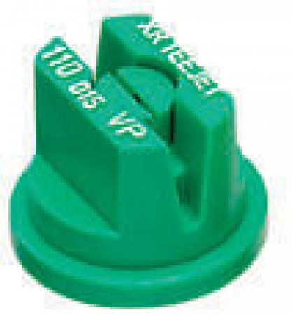 XR TeeJet Light Green Acetal Polymer Extended Range Flat Spray Tip Nozzle