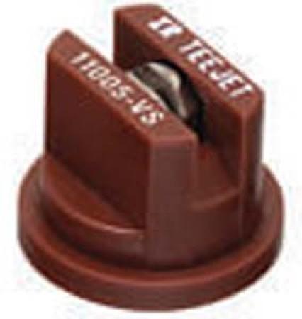 XRC TeeJet Brown Acetal-Stainless Steel Extended Range Flat Spray Tip Nozzle