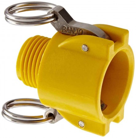 "Garden Hose Coupler Fitting - 3/4"" Female Coupler x 3/4"" MGHT"