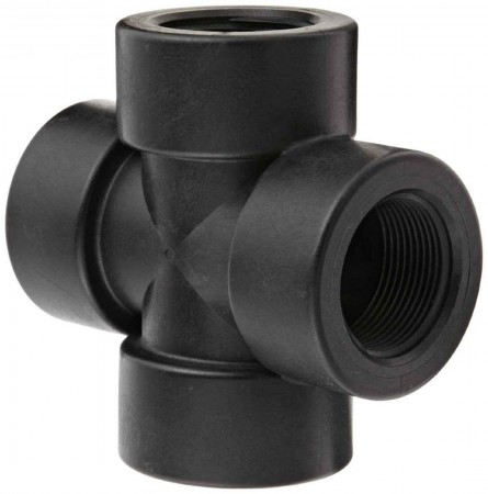"""Pipe Cross Fitting - 1 1/4"""" FPT"""