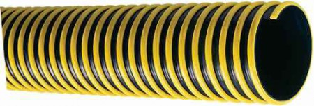 """1 1/4"""" Black/Yellow Spiral Suction Hose / ft"""