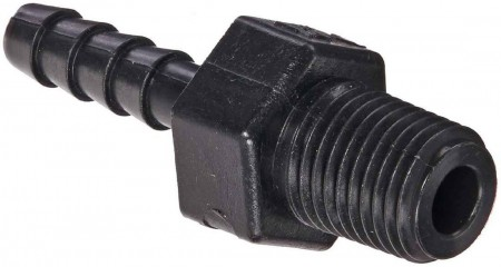 "Hose Barb Fitting - 1/4"" MPT x 1/4"" Hose Barb"