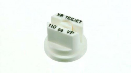 XR TeeJet White Acetal Polymer Extended Range Flat Spray Tip Nozzle
