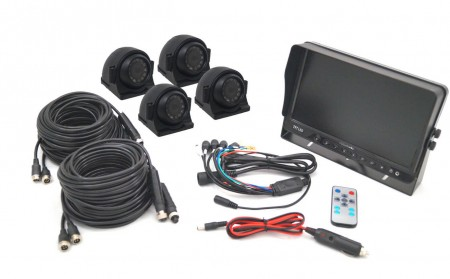 "10"" Monitor & Side View Quad Camera System"