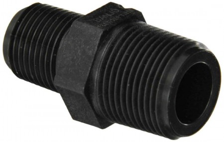 "Pipe Reducer Nipple Fitting - 3/4"" MPT x 1/2"" MPT"