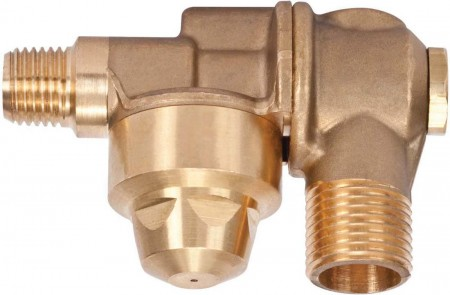 """1/4"""" MPT 1 Outlet Brass Rollover"""