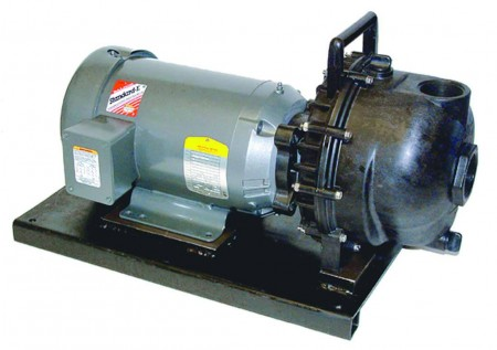 "5 HP Single Phase Electric Engine Poly Pump with 2"" NPT"