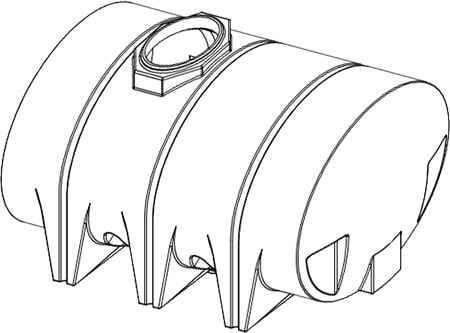 1315 Gallon Drainable Leg Tank