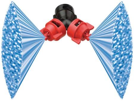 Qj90 2xxr110 Vp Teejet Turbo Duo Dual Flat Fan Spray Tip