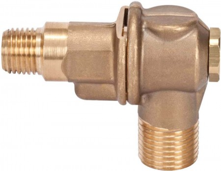 """1/4"""" FPT 1 Outlet Brass Rollover"""
