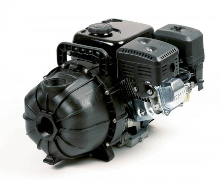 """6.5 HP PowerPro w/ Electric Start Gas Poly Transfer Pump with 2"""" NPT Inlet x 2"""" NPT Outlet"""