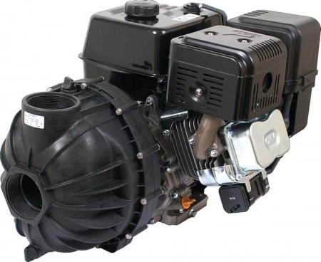 13 HP PowerPro w/ Electric Start Gas Poly Transfer Pump with 300 Flange Inlet x 300 Flange Outlet