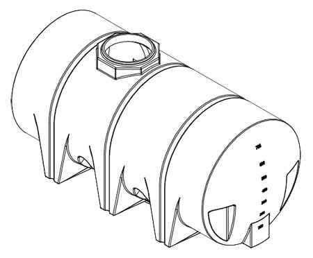 710 Gallon Drainable Leg Tank