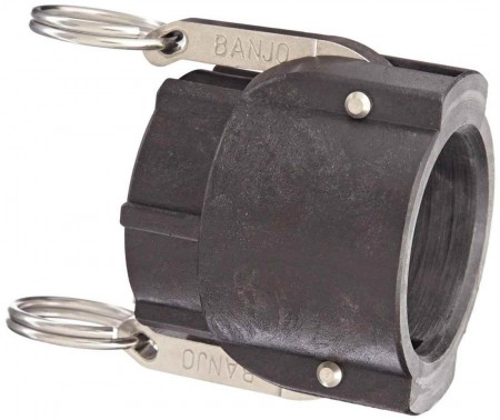 """Cam Action Adapter Fitting - 1 1/2"""" Female Coupler x 1 1/2"""" FPT"""
