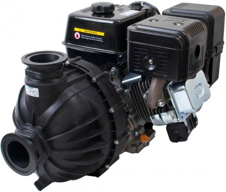 """5.5 HP Honda GX200 Gas Poly Transfer Pump with 2"""" NPT Inlet x 2"""" NPT Outlet"""