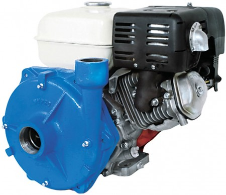 """9 HP Honda Gas Cast Iron Centrifugal Pump with 2"""" NPT Inlet x 1-1/2"""" NPT Outlet"""