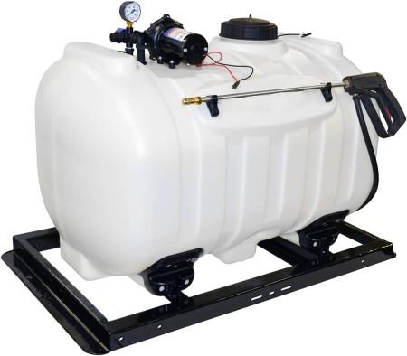 60 Gallon UTV Sprayer w/ 3.0 GPM Everflo Pump, Pressure Gauge, & Pistol Spray Gun