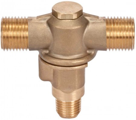 """1/4"""" FPT 2 Outlet Brass Rollover"""