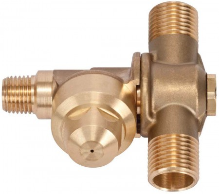 "1/4"" MPT 2 Outlet Brass Rollover"