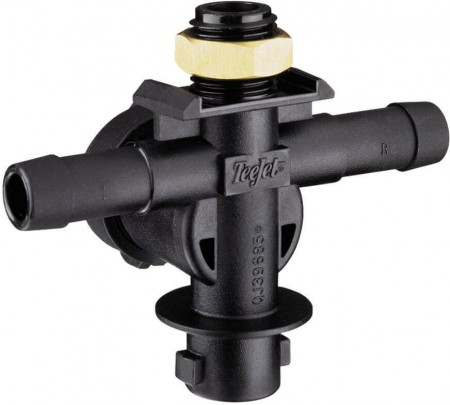 """1/2"""" Hose Barb 1 Outlet Single Nozzle Body for Dry Applications"""