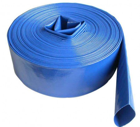 "2"" Blue Flat Lay Hose / ft"