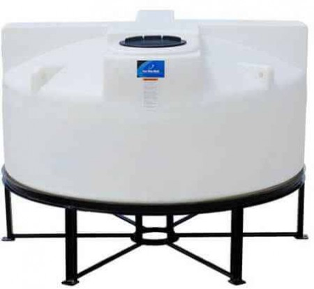 850 Gallon Cone Bottom Tank w/ Stand