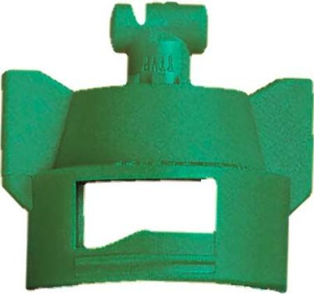 Turbo TeeJet Duo Racing Green Acetal Polymer Dual Polymer Flat Fan Spray Tip Nozzle