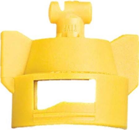 Turbo TeeJet Duo Yellow Acetal Polymer Dual Polymer Flat Fan Spray Tip Nozzle