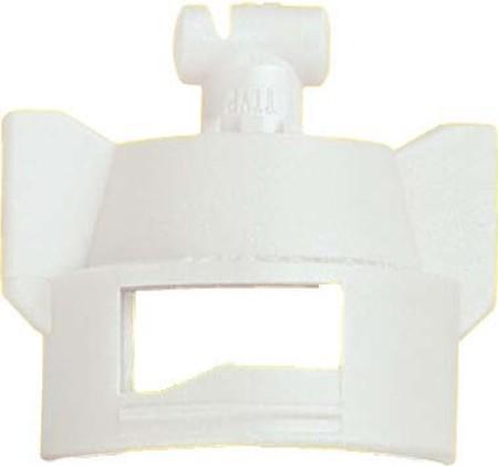 Turbo TeeJet Duo White Acetal Polymer Dual Polymer Flat Fan Spray Tip Nozzle