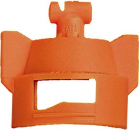 Turbo TeeJet Duo Orange Acetal Polymer Dual Polymer Flat Fan Spray Tip Nozzle