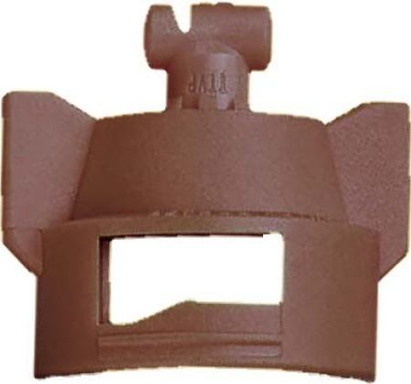 Turbo TeeJet Duo Brown Acetal Polymer Dual Polymer Flat Fan Spray Tip Nozzle